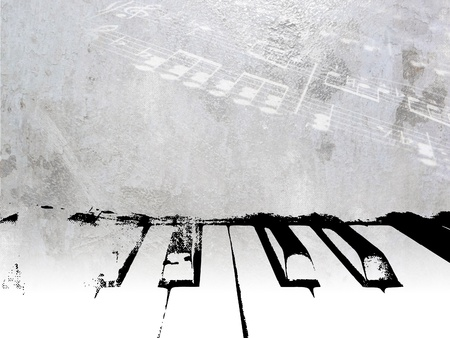 musik hintergrund: Weinlese-Musik-Hintergrund - Grunge-Klavier-Design mit weichem Licht Noten - Noten Vorlage
