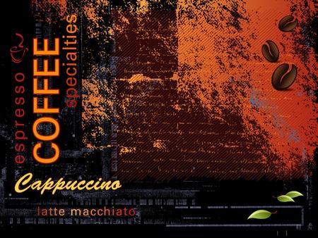capuchino: Caf?e fondo Vectores