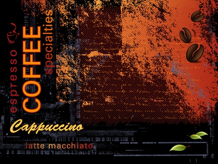 cappuccino: Coffee background