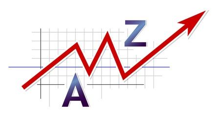 bourse: Business graph Illustration