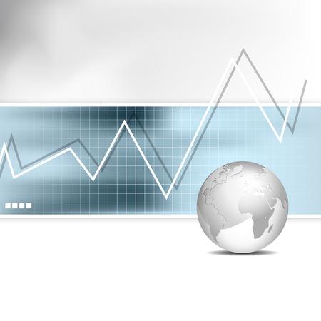 비즈니스 차트 - 막대 그래프 - 금융 배경 일러스트