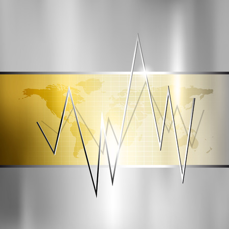 Finance background - stock market graph - silver gold business chart Vector