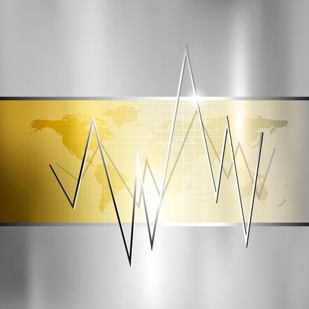 dax: Finance background - stock market graph - silver gold business chart