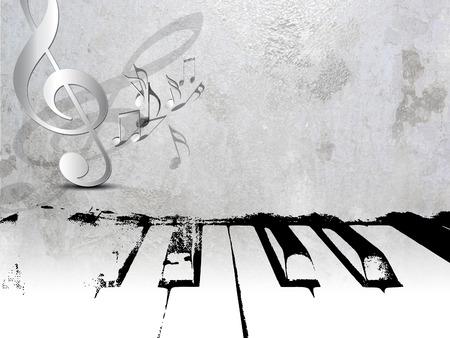 Grunge music background - piano sheet music photo