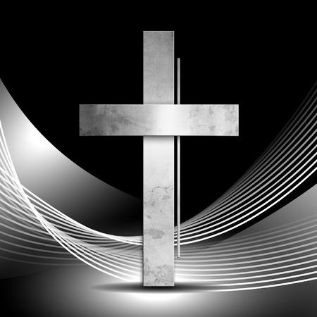 silver cross: Christian cross