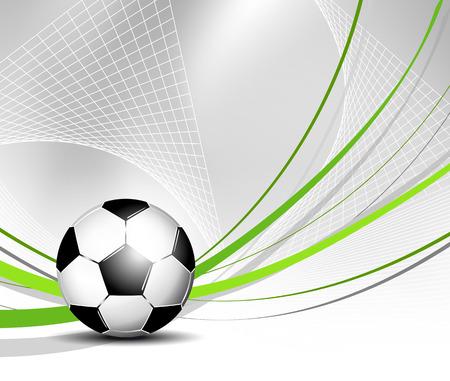 campeonato de futbol: Bal?n de f?tbol en la red