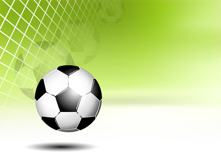 footie: Sports - soccer ball in net