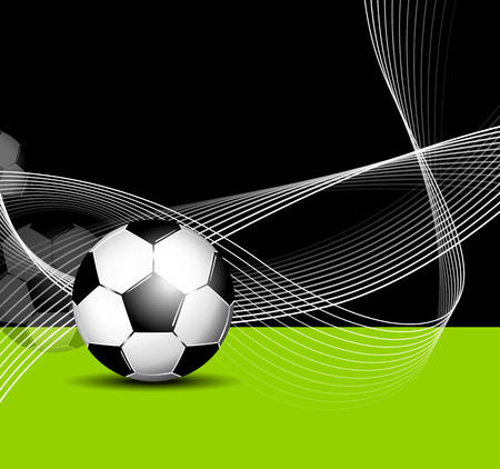 footie: Soccer ball background with abstract lines - football flyer design