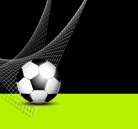 footie: Soccer ball with net - football flyer template Illustration