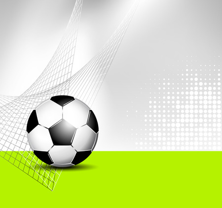 footy: Soccer ball with abstract net texture