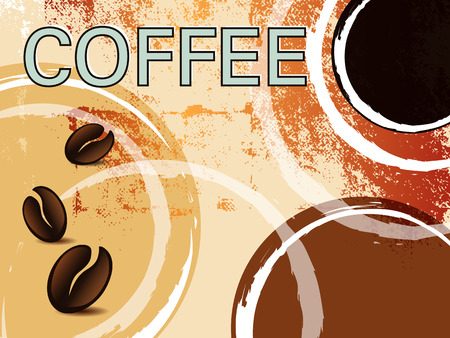 Coffee stains - retro design Vector