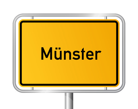 munster: City limit sign Muenster - signage - Germany