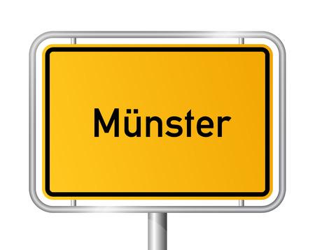 Grens van de Stad teken Münster - bewegwijzering - Duitsland Stock Illustratie