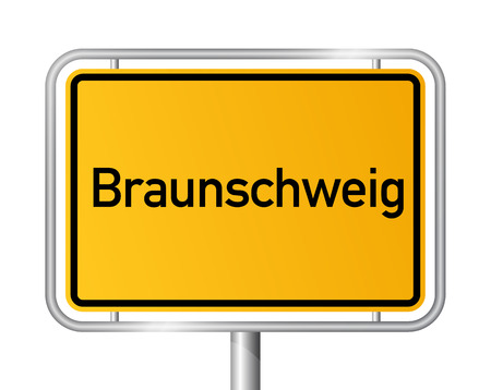 Grens van de Stad teken Braunschweig - bewegwijzering - Duitsland Stock Illustratie