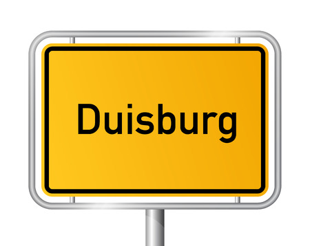 ortsschild: City limit sign Duisburg - signage - Germany