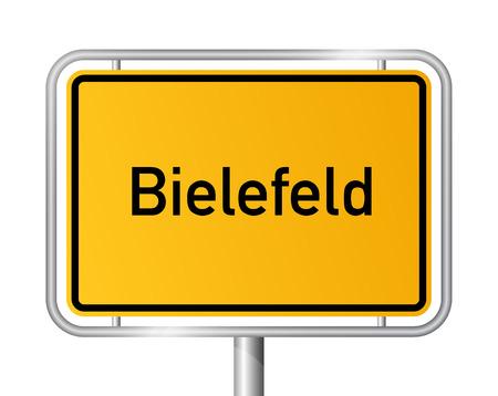 name plates: City limit sign Bielefeld - signage - Germany