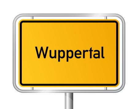 city limit: City limit sign Wuppertal - signage - Germany
