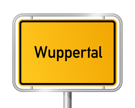Grens van de Stad teken Wuppertal - bewegwijzering - Duitsland