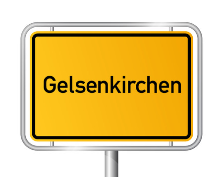 entrance sign: City limit sign Gelsenkirchen - signage - Germany