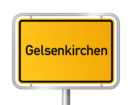 ortseingangsschild: Ortseingangsschild Gelsenkirchen - Beschilderung - Deutschland