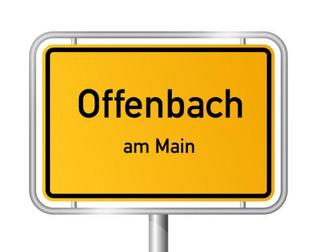 ortseingangsschild: Ortseingangsschild Offenbach am Main - Beschilderung - Deutschland Illustration