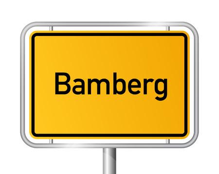 Limite de la ville signe Bamberg - signalisation - Allemagne Banque d'images - 22849597