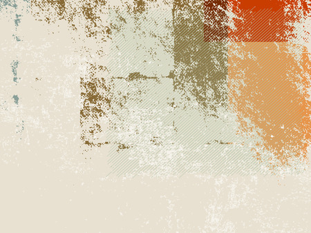 Abstract retro wallpaper background - grunge style 70s Vector