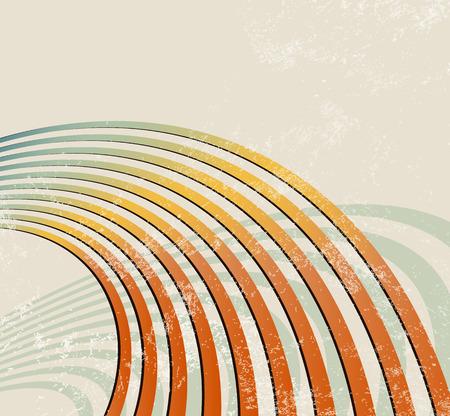 sonar: Sfondo retrò con linee curve - le onde radio - modello di musica astratta