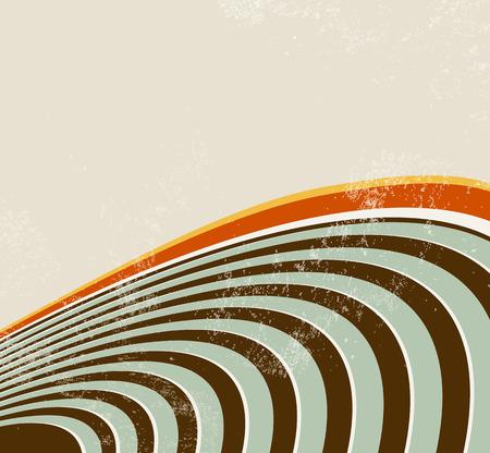 sonar: Sfondo astratto con linee curve - onde sonore - onde radio