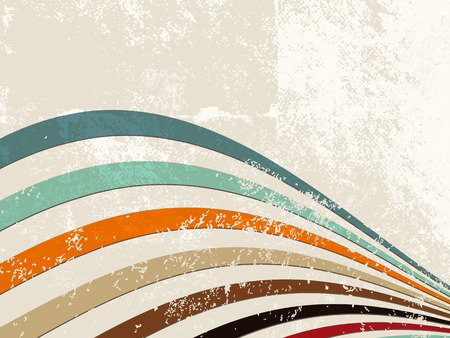 Retro lines - grunge stripe background