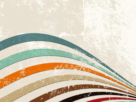 Retro-Linien - Grunge Streifen Hintergrund Illustration