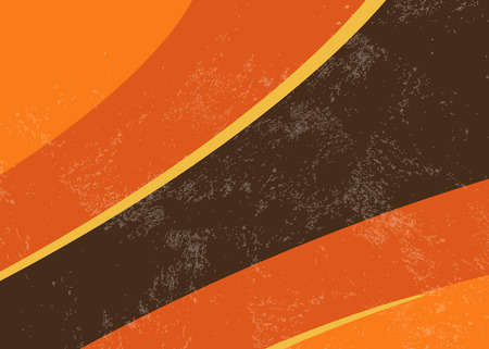 70s retro background - abstract curved lines Illustration