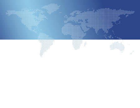 Dotted world map - global business background Vector