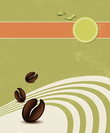 Natural coffee background Vector