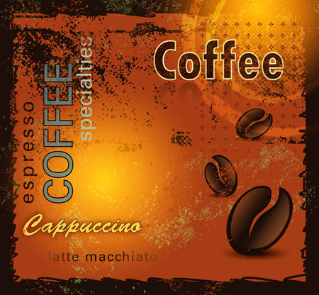 Grunge coffee background Vector