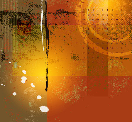 Abstract background - modern digital painting - grunge style Vector