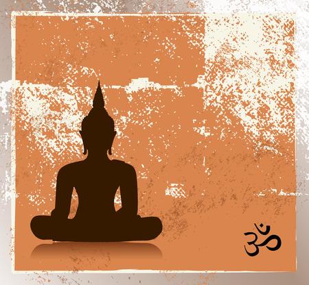 Grunge buddha image Stock Vector - 27382883