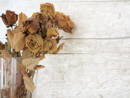 dried leaf: Bouquet of dried rose flowers