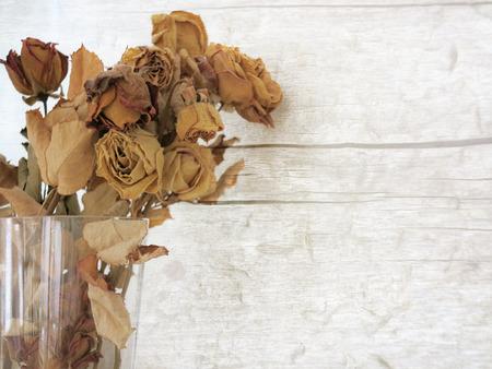 flores secas: Ramo de flores secas de rosa