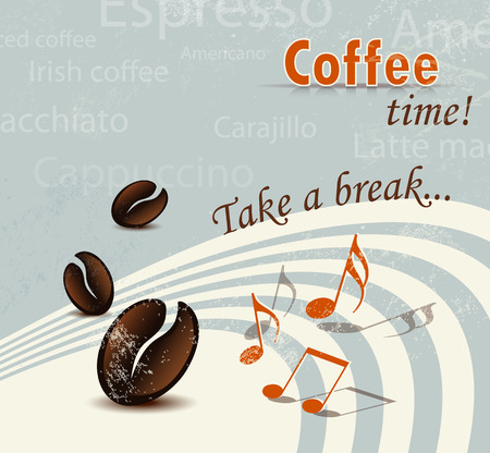 Retro coffee background Vector