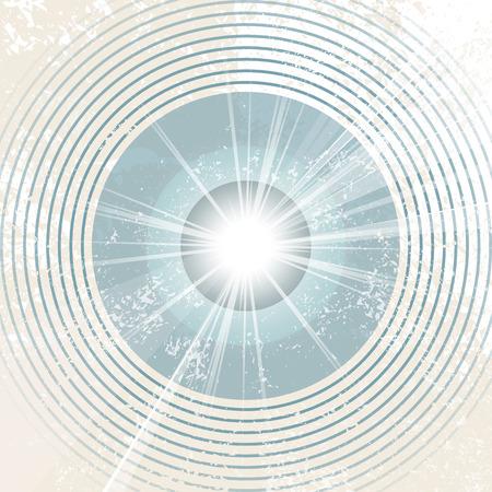Retro starburst - abstract radio waves Vector