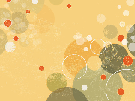 Abstract background with circles and dots - retro style Vector