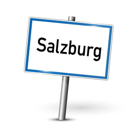 ortseingangsschild: Ortsschild - Salzburg - Österreich