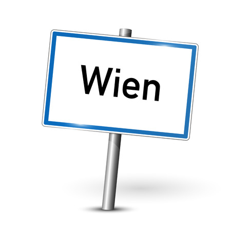 City sign - Wien - Vienna - Austria