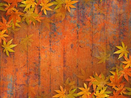 Fall bladeren achtergrond - grunge herfst ontwerp