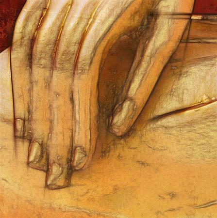 budha: Hand of buddha statue