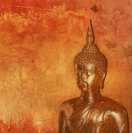 buddist: Buddha against grunge background