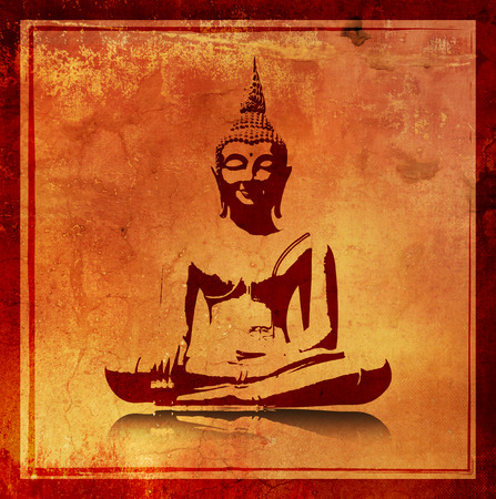 Buddha silhouette Stock Photo