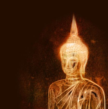 buddist: Artistic buddha drawing