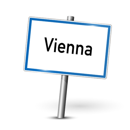 City sign - Vienna - Austria Illustration